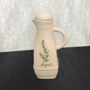 """Thyme Porcelain Cruet Approx 7"""" Tall with Lid"""